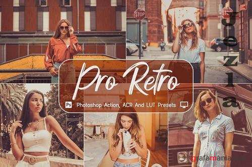 10 Pro Retro Photoshop Actions, ACR, LUT Presets - 1150098