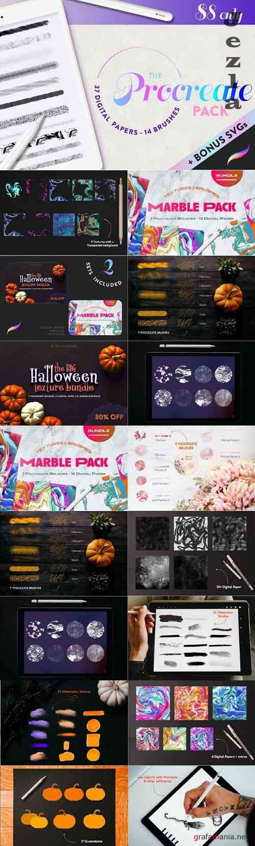 Procreate Bundle Pack Texture - 5741123