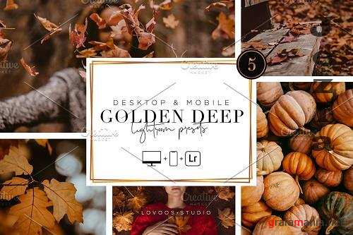 CreativeMarket - Golden Deep - Lightroom Presets 5200047