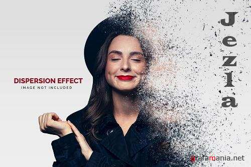 Dust dispersion photo effect template