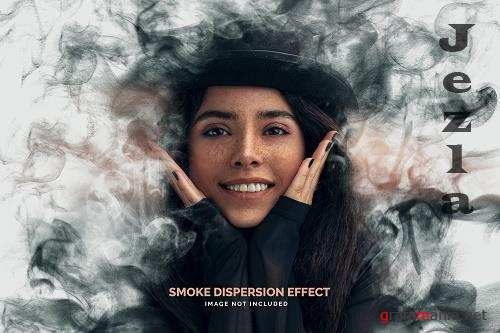 Smoke dispersion photo effect template