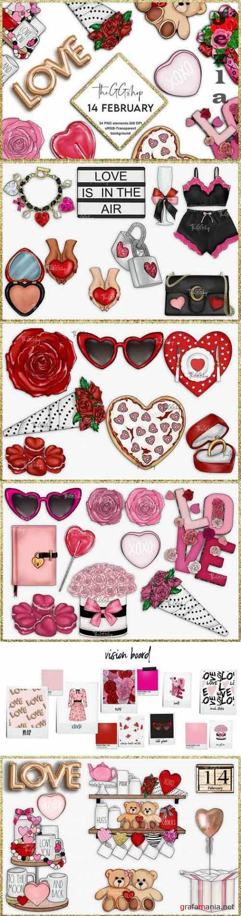 Valentine's Day Clipart Set - 5742900