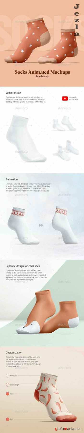 GraphicRiver - Socks Animated Mockups 30007843