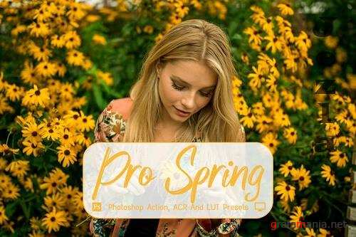 15 Pro Spring Photoshop Actions, ACR, LUT Presets - 1159440
