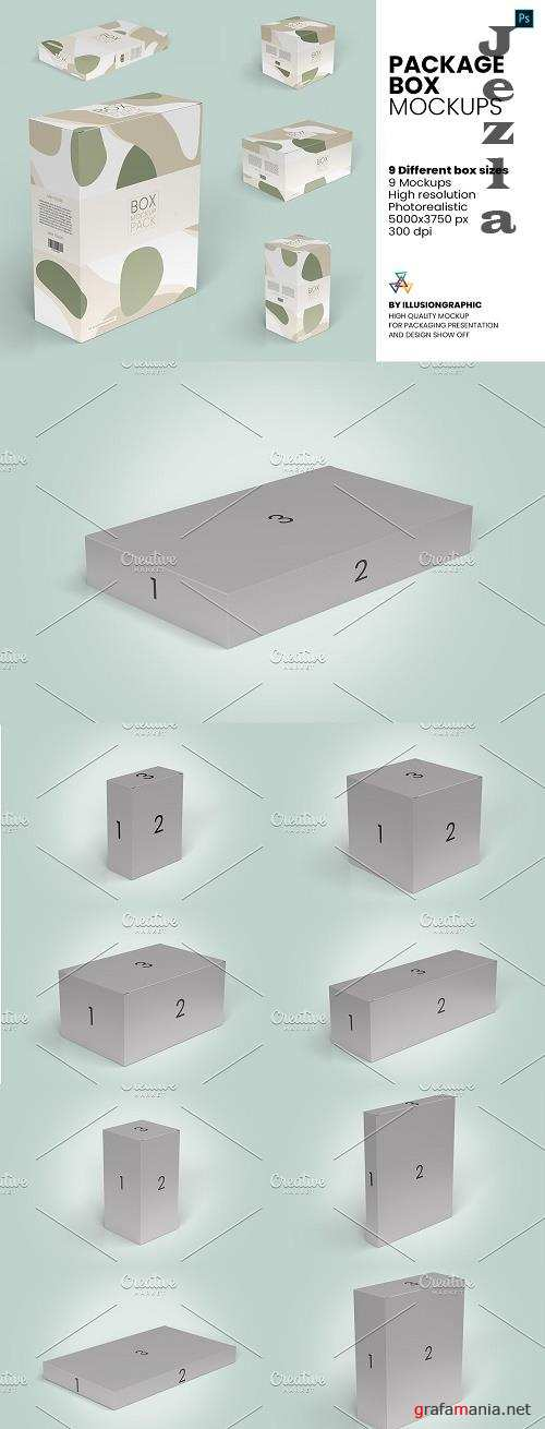 Package Box Mockups - 9 box sizes - 5810193