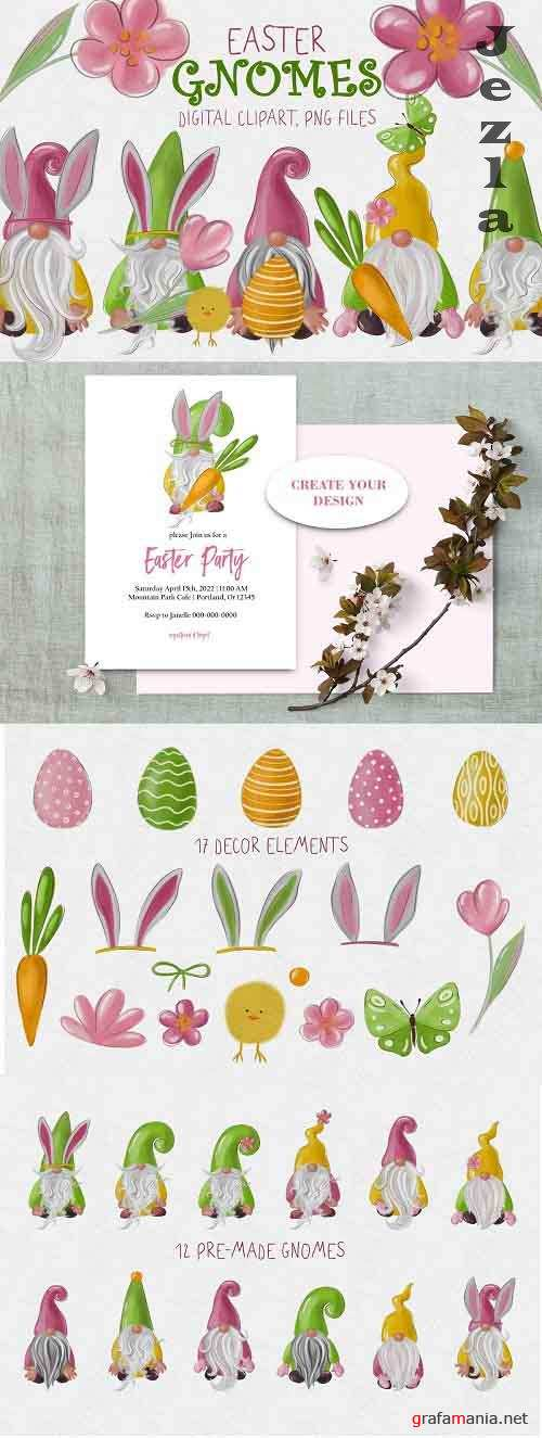 Easter gnomes clipart - 5815758