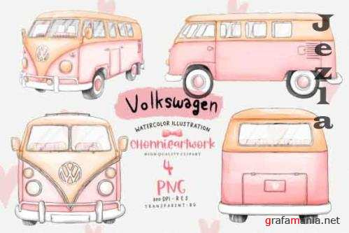 Pink Volkswagen Van Sublimation Bundle