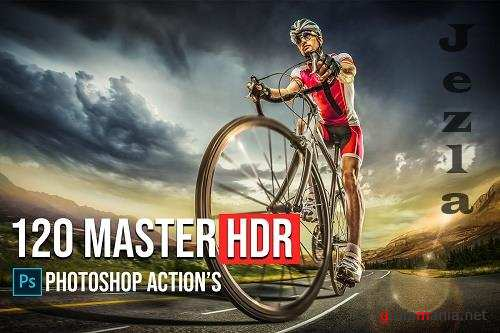 CreativeMarket - 120 Master HDR Photoshop Actions 5783739