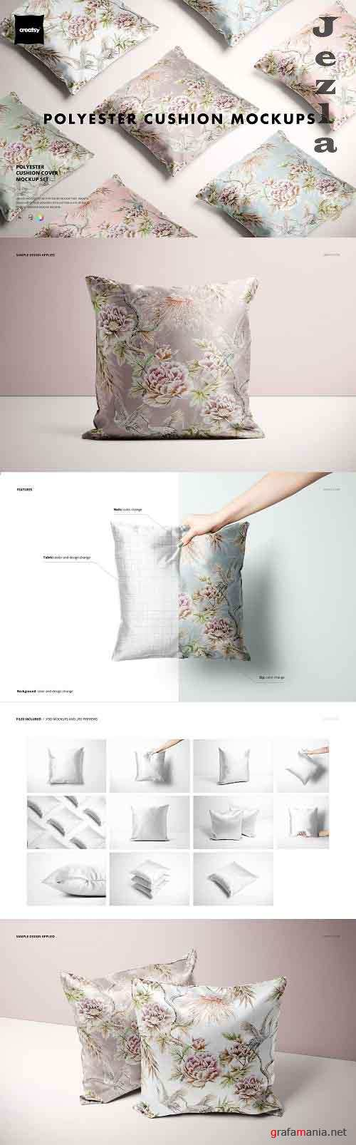 CreativeMarket - Polyester Cushion Cover Mockup Set 5729924 (Full Version)
