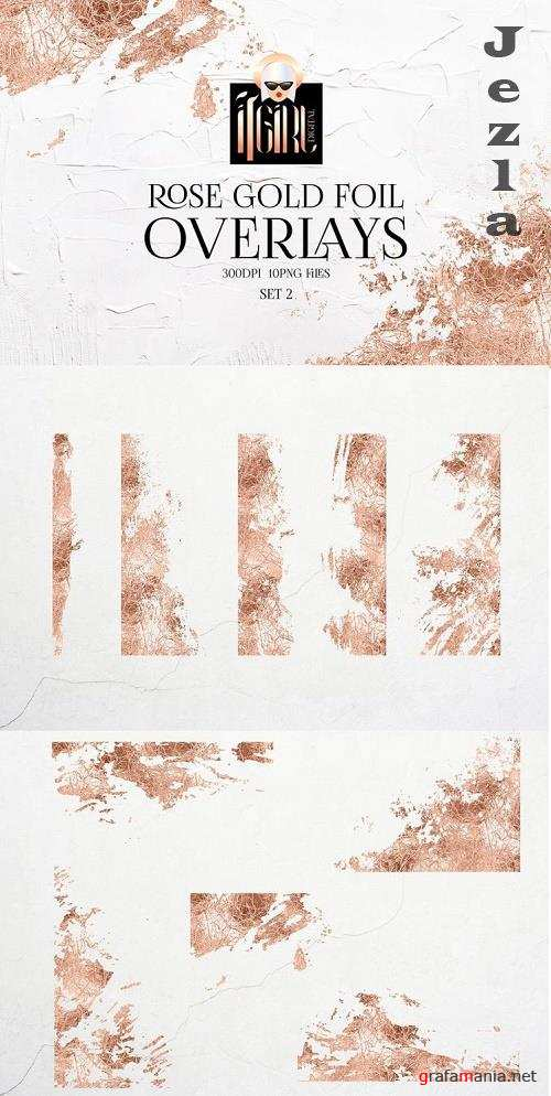 Rose Gold Foil Overlays - 1150978