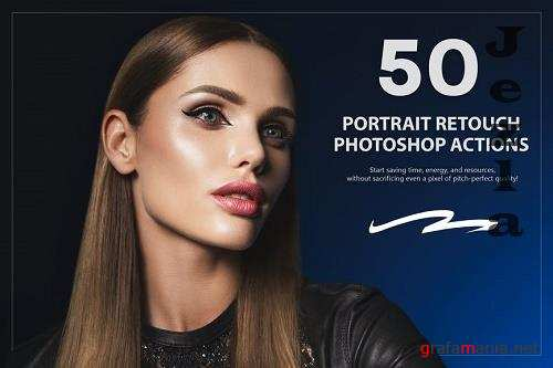 50 Portrait Retouch Photoshop Actions
