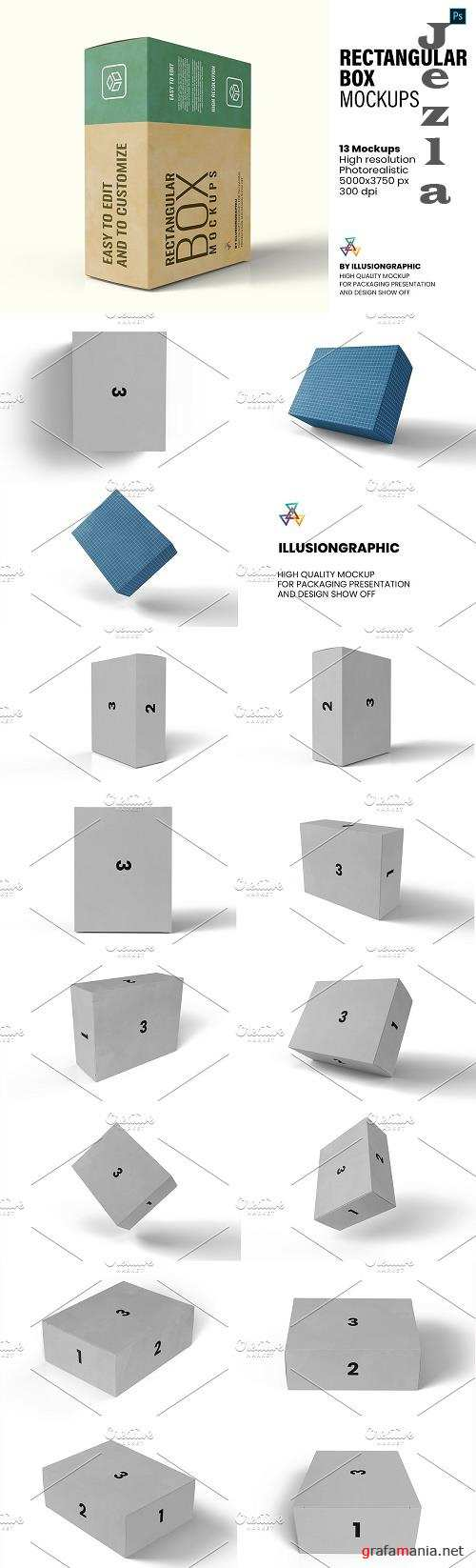 Rectangular Box Mockups - 13 views - 5825082
