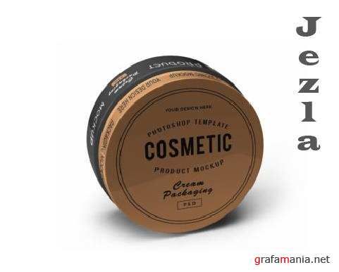 Cream Cosmetic Jar 3D Mockup Template Bundle