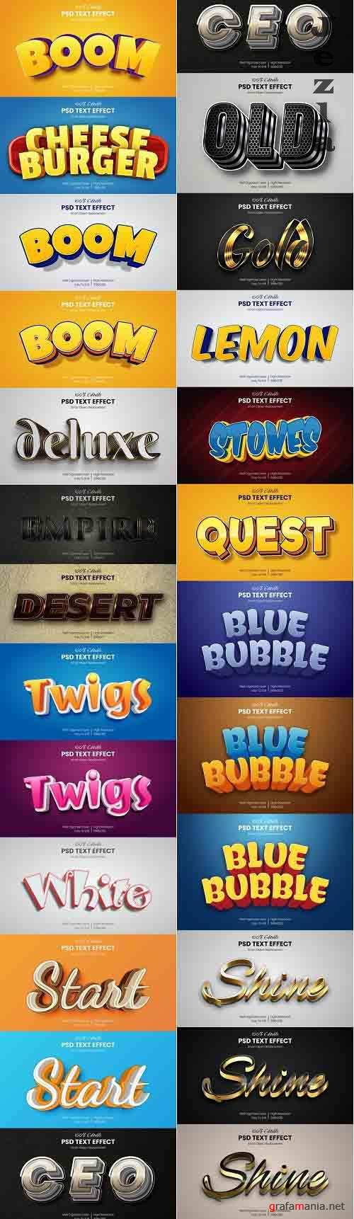 40 Luxury & Cartoon Photoshop Text Effects - Golden & Comic Styles 29800611