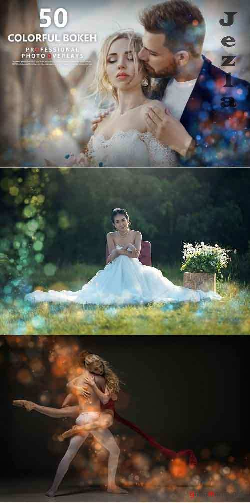 50 Colorful Bokeh Photo Overlays