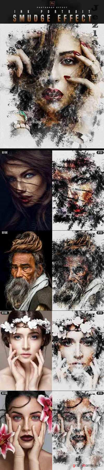 GraphicRiver - Smudge Portrait - Photoshop Effect 30177572