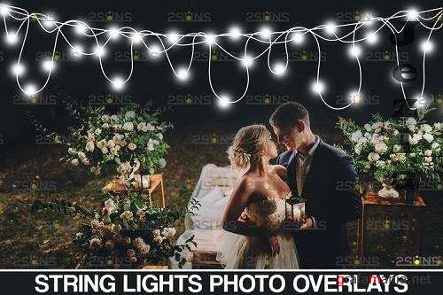 String light overlay & Christmas sparkler overlay - 1131525