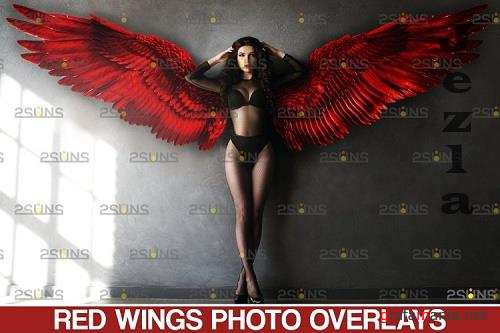 Red Angel Wing overlay & Photoshop overlay - 1132970