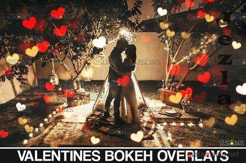 Valentine Day Png, Bokeh Blowing Heart Backdrop