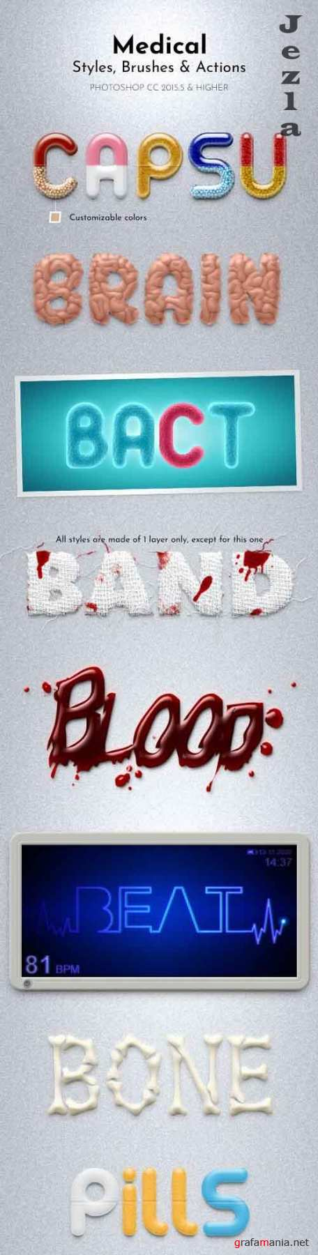 GraphicRiver - Medical Styles, Brushes and Actions 30312614