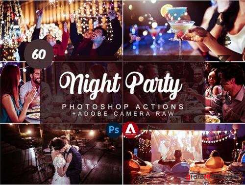 60 Night Party Photoshop Actions