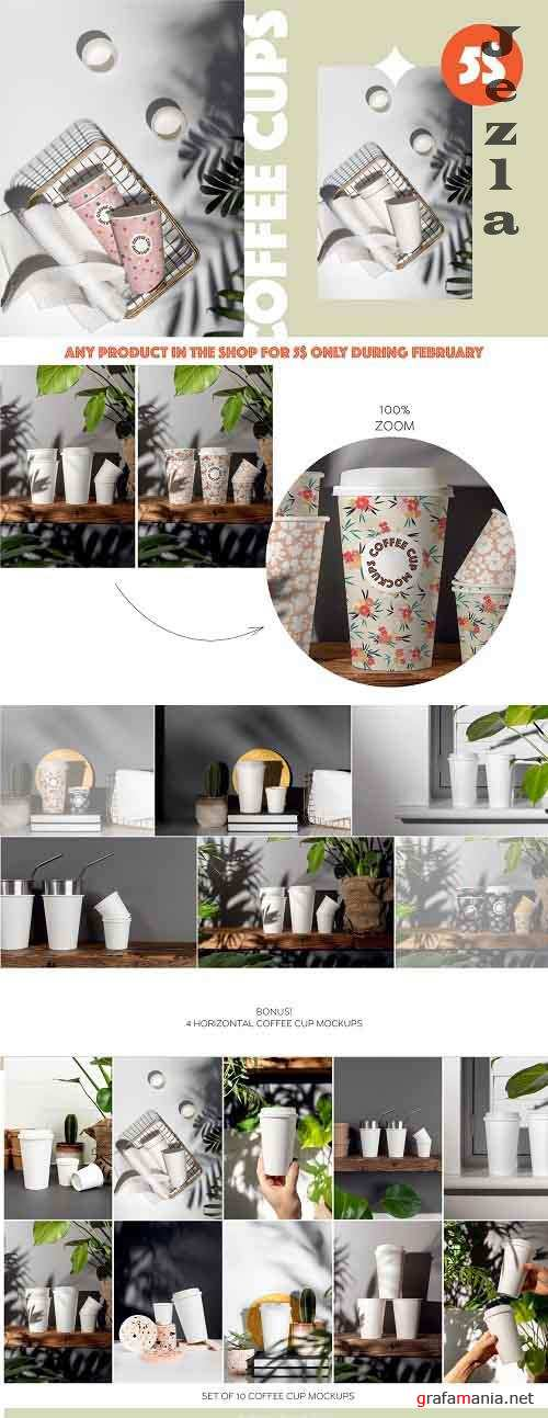 Creativemarket - Paper Coffee Cup Mockup Set 5750541