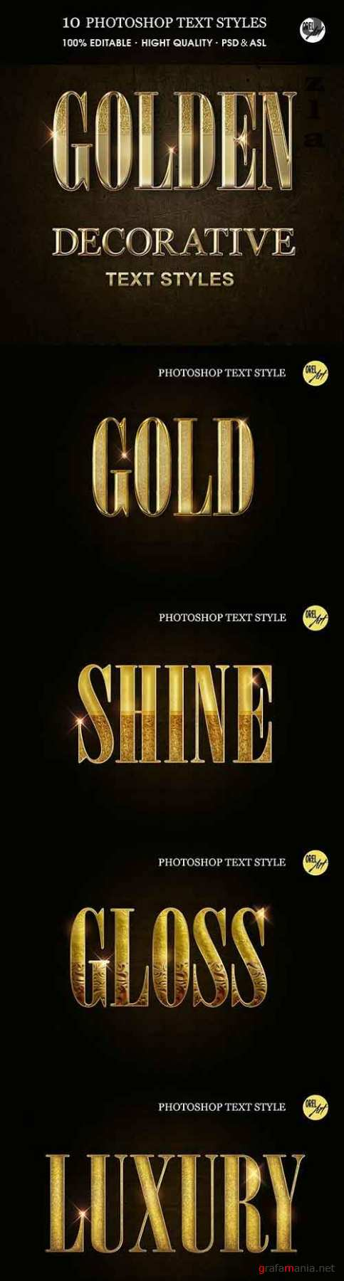 GraphicRiver - Golden Decorative Text Styles 30375826