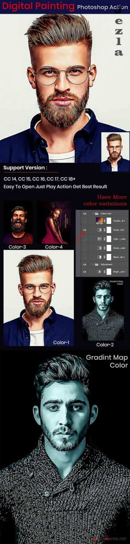 GraphicRiver - Digital Painting Photoshop Action 29902686