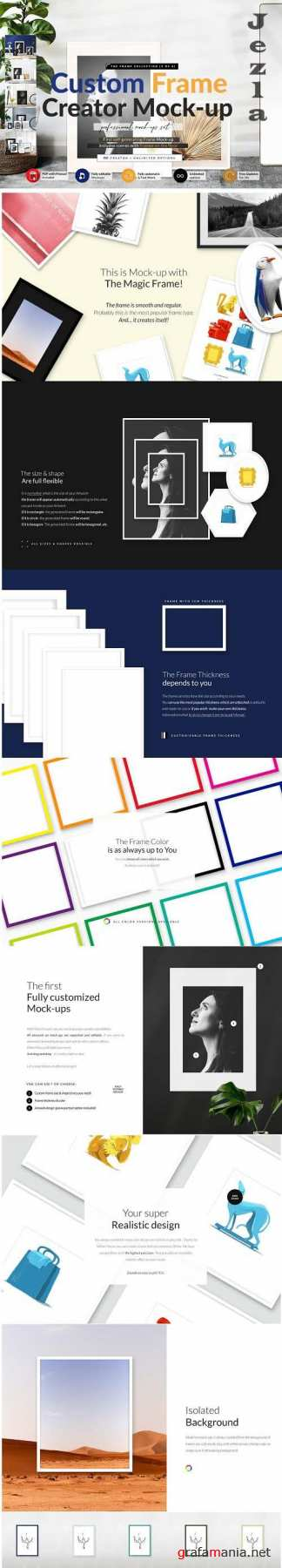 CreativeMarket - Automatic Frame on the Floor Creator 5827594