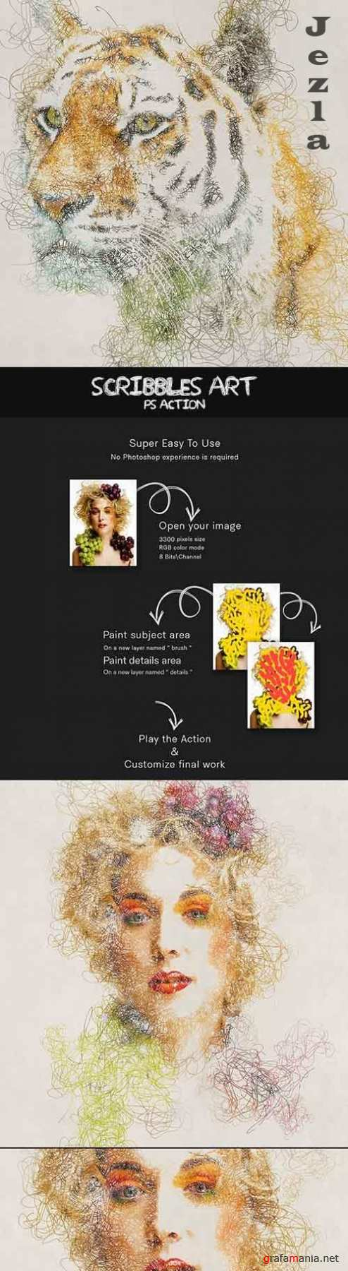 GraphicRiver - Scribbles Art Photoshop Action 30361025