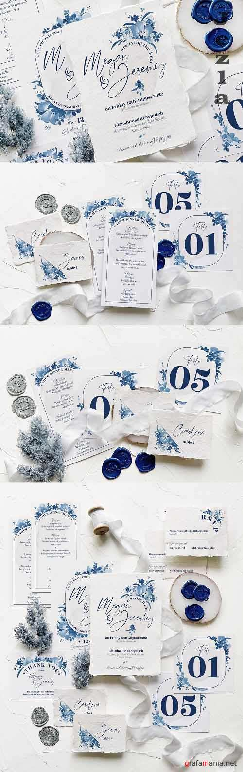Elegant Delft Blue Wedding Suite - 5924136