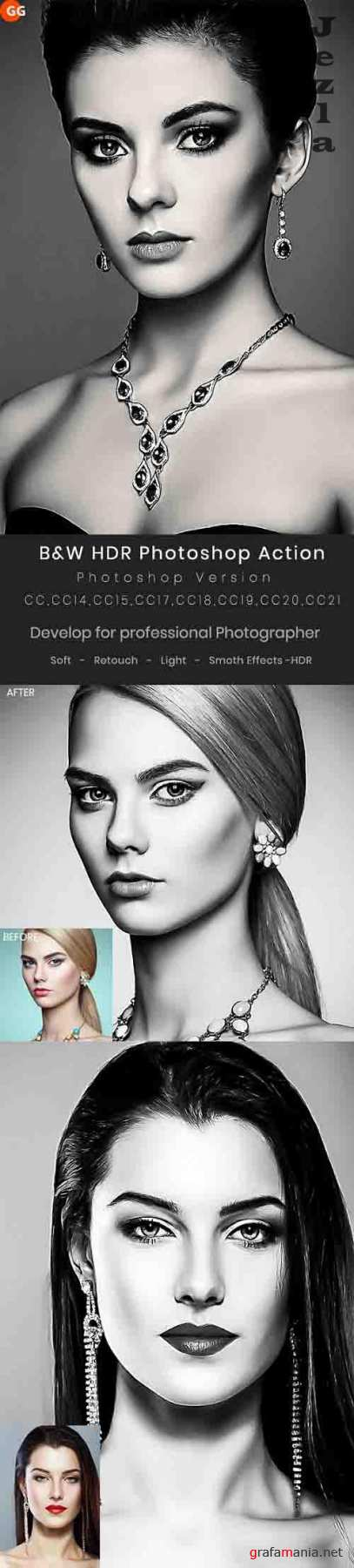GraphicRiver - B&W HDR Photoshop Action 29947060