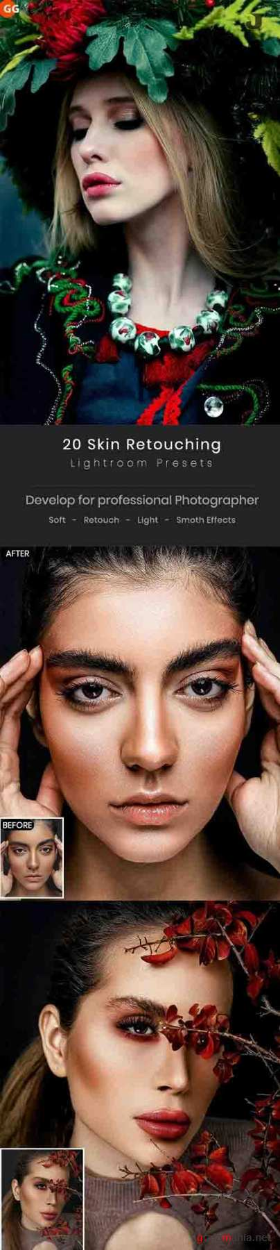 GraphicRiver - 20 Skin Retouching Lightroom Presets 30133828