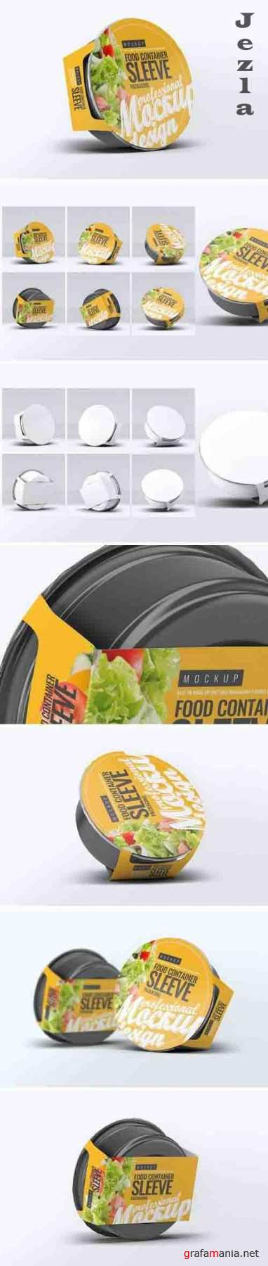 Food Container Sleeve Packaging Mock-Up v.1