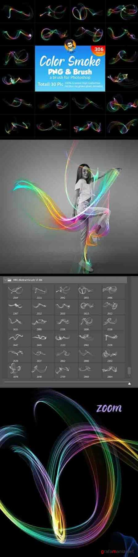 GraphicRiver - Abstract Smoke Brush and PNG Shape 29956103