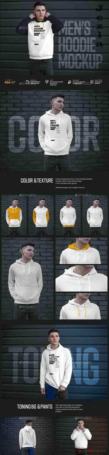 GraphicRiver - 7 Mockups Hoodie on the Man. Urban Style 30321874