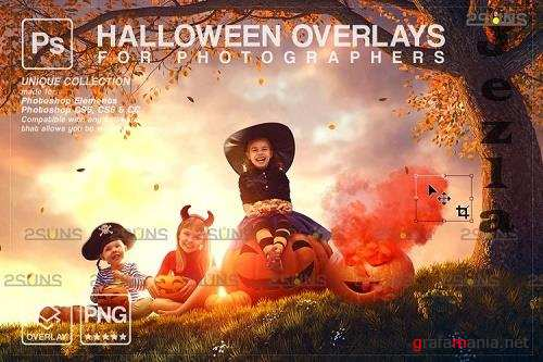 Halloween clipart Halloween overlay, Photoshop overlay V32 - 1132989