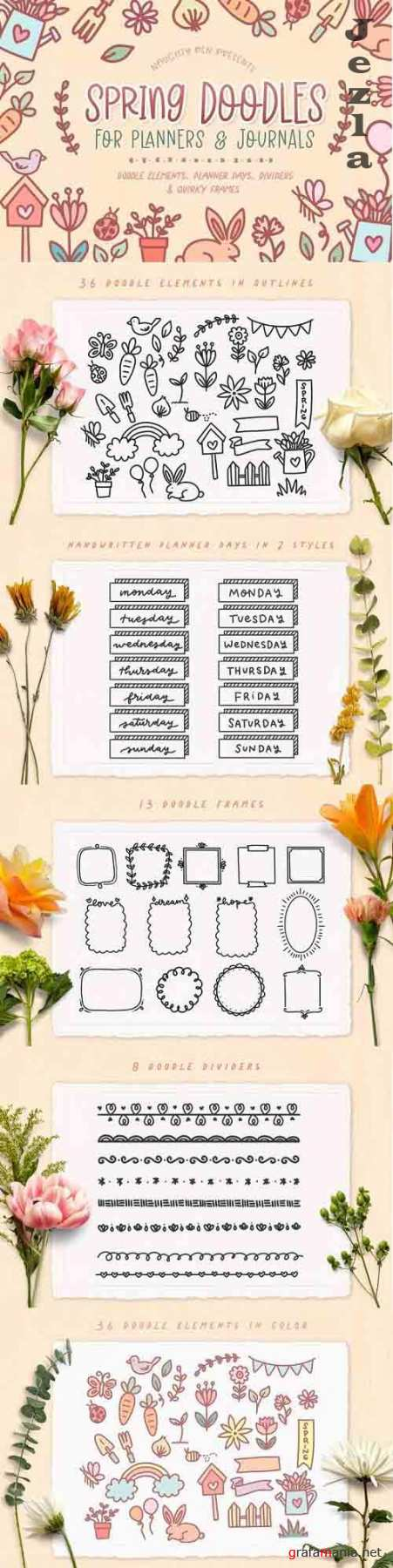 Spring Doodles For Planners And Journaling - 1239882