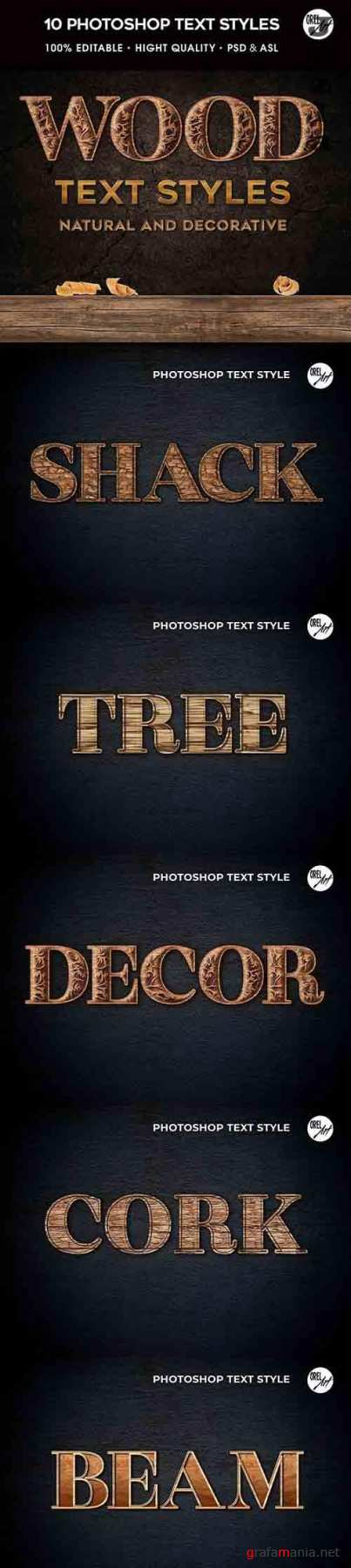 GraphicRiver - Wood Photoshop Styles 30366448
