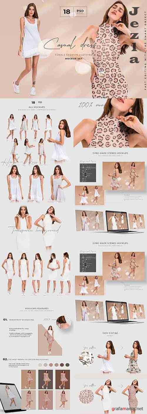 CreativeMarket - Dress Mockup Template Set 5837632