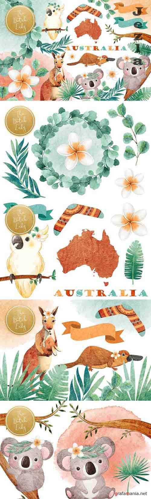 Australian Friends Clipart Set - 5953122