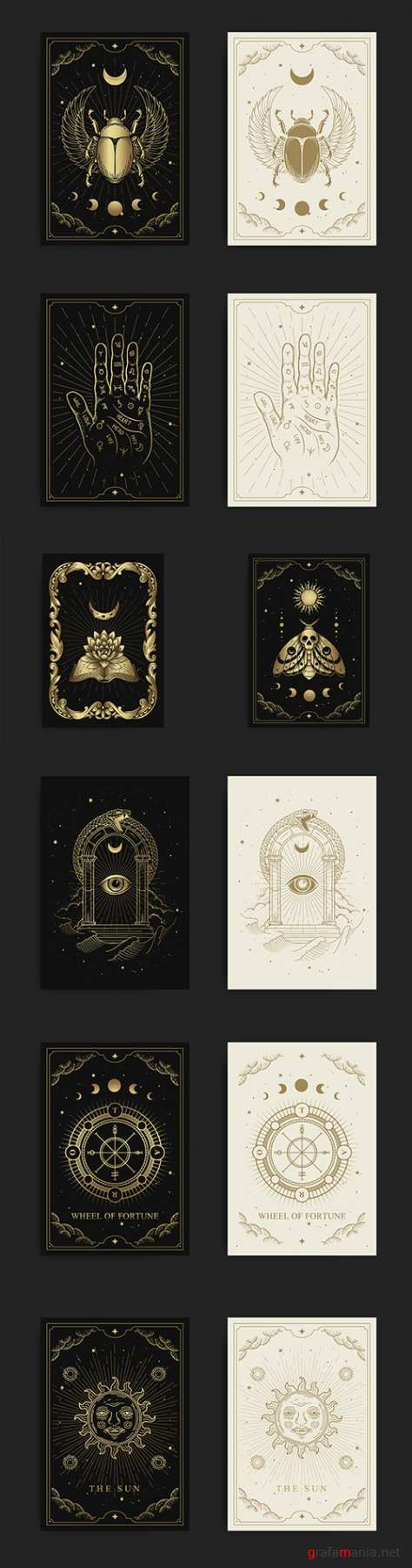 Esoteric boho style design paranormal astrologer phenomena