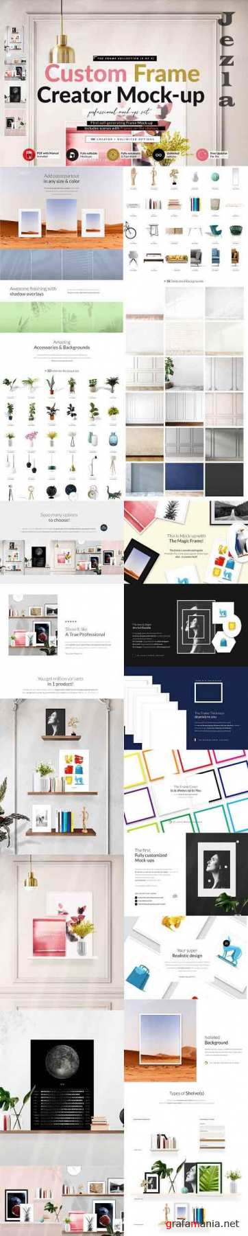 CreativeMarket - Automatic Frame with Shelves Creator 5827596