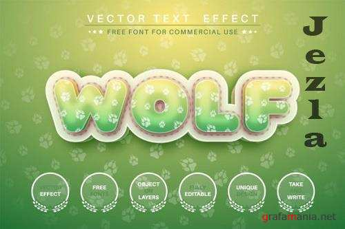 Wolf - editable text effect, font style
