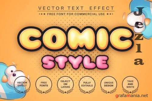 Humor comic - editable text effect font style