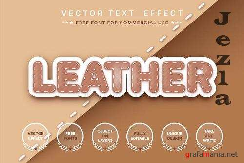 Leather product - editable text effect, font style