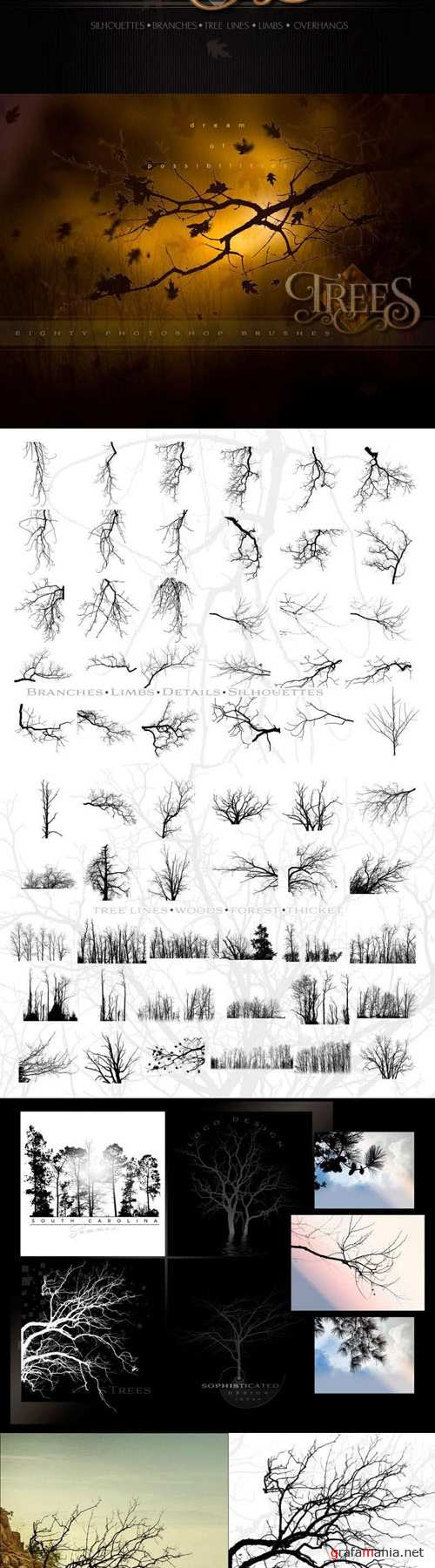 Ron's Trees Brushes