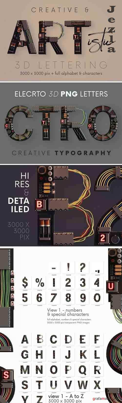 Electro - 3D Lettering - 6126485