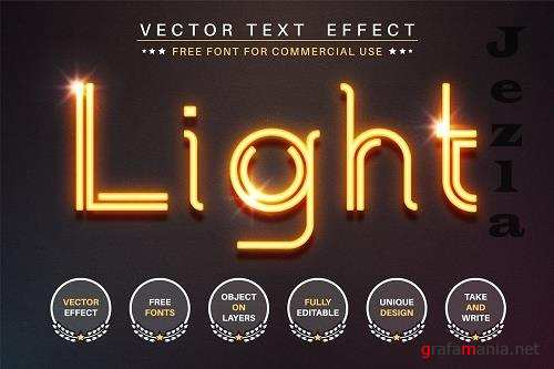 Glowing wire - editable text effect - 6241981