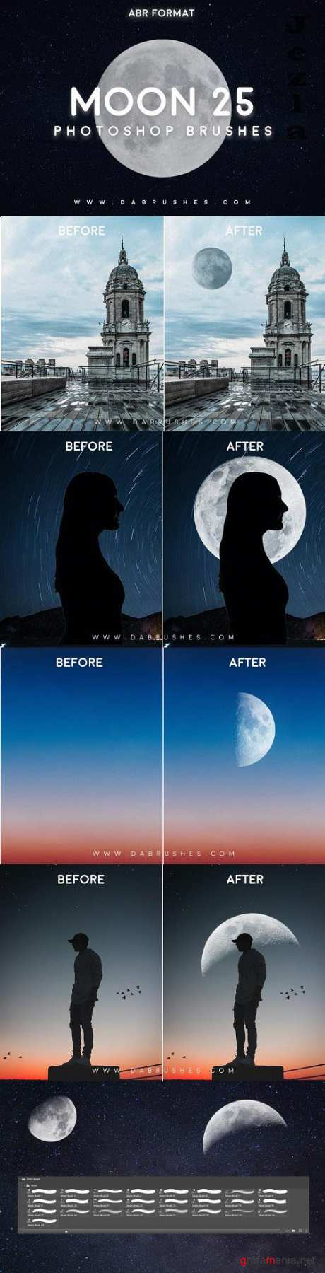 25 Moon Brushes For Photoshop - 6036825